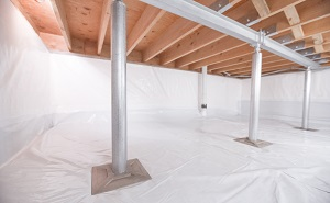 Crawl space structural support jacks installed in Rangely