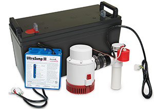 a battery backup sump pump system in Leadville